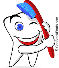 Tooth and brush