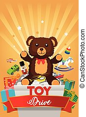 Toy Drive Brochure Illustration