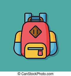 travel backpack vector icon