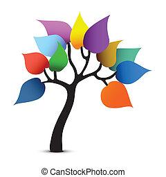 Tree color design. Fantasy graphic vector