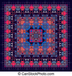 Triangle geometric vector abstract square pattern