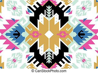 Tribal turkish seamless pattern in bohemian style. Ideal for fabric, wrapping paper, greeting and invitation card. Vector illustration