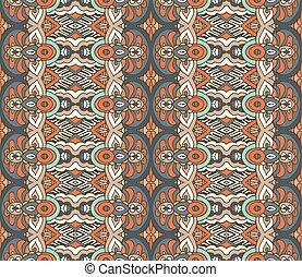 Tribal vintage seamless pattern ornamental.