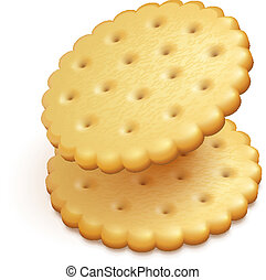 crisp cookies snacks isolated
