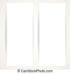 Two vertical blank banners on a white background
