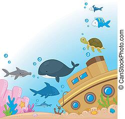 Illustration of Animals Under the Sea