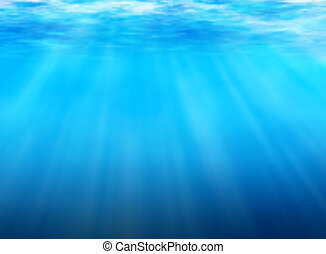 Editable vector background of light filtering underwater made using a gradient mesh