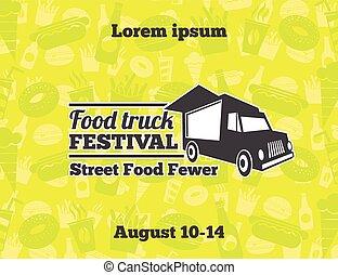 Urban, street food vector illustrations for poster