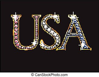 USA in Ruby, Diamond and Sapphire