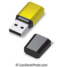 USB flash drive.