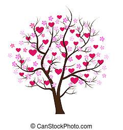 Valentine day tree love vector concept