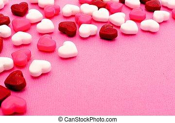 Valentines candy background