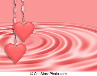 Valentines Day Background Pink Hear