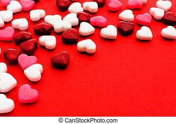 Valentines Day candy background