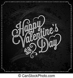 Valentines Day Chalk Vintage Lettering Background