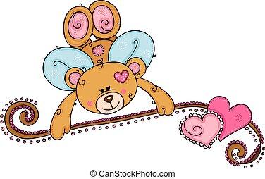 Valentines day cupid teddy bear