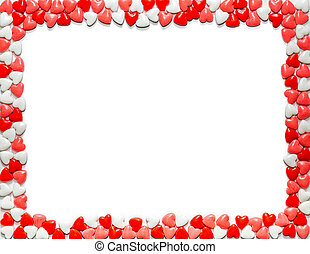 Valentines Day Heart Shaped Candy Border