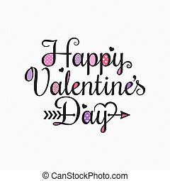 Valentines Day Vintage Card Lettering Background