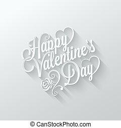 valentines day vintage lettering cut paper background