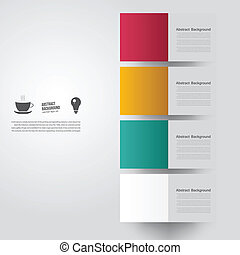 Vector abstract background. Square color and lines