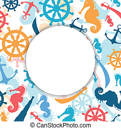 Vector Abstract Background with Nautical Elements