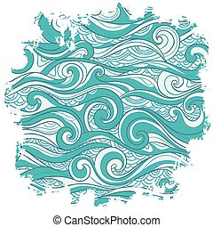 Vector abstract waves background for your business