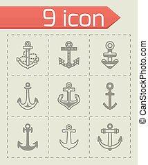 Vector Anchor icon set