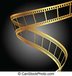 background with gold film strip