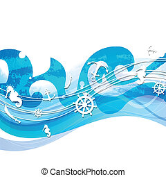 Vector Background with Nautical Elements