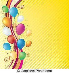 vector balloons, celebration background