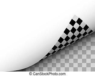 Vector Blank Paper Sheet Curl