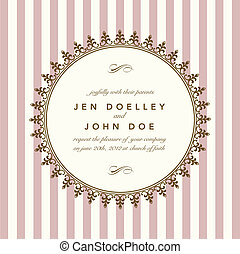 Vector Classic Round Gold Frame. Easy to edit. Perfect for invitations or announcements.