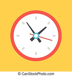 Vector clock icon