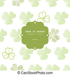 clover geometric textile textured frame seamless pattern background