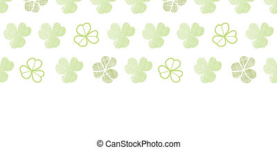 clover geometric textile textured horizontal seamless pattern background