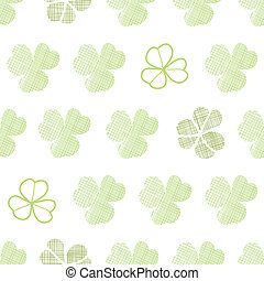 clover textile textured geometric seamless pattern background
