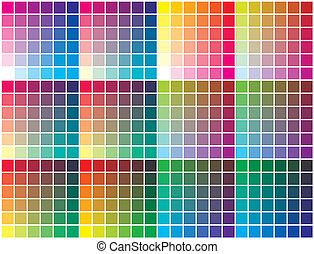Color chart for prepress, printing and calibration business
