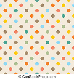 Vector colorful dots background