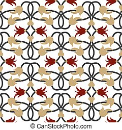 Vector damask seamless pattern background. Elegant luxury texture for wallpapers and page fill.