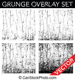 Vector Distressed and Cracked Background Set. Simply place overlay over any design to create effect.