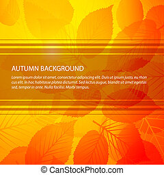 Vector Fall abstract floral background