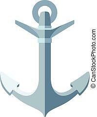 vector flat sea maritime icon Anchor