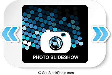 Vector frame for website slideshow, presentation or series of projected images, photographic slides or online photo album layout