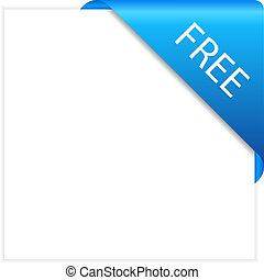 Vector free corner isolated on white