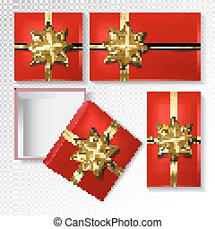 Vector gift wrapping collection. Top view