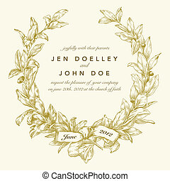 Vector Gold Wreath Background