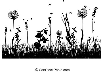 grass silhouettes