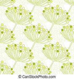 Vector green bubble plants geometric seamless pattern background graphic design