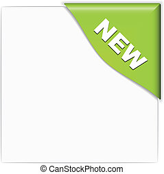 vector green new corner