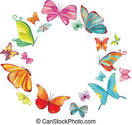 big butterfly set